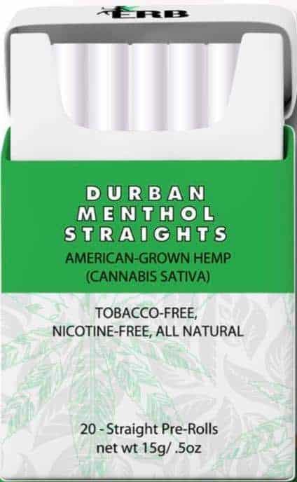 Bhang Durban Menthol CBD Cigarettes