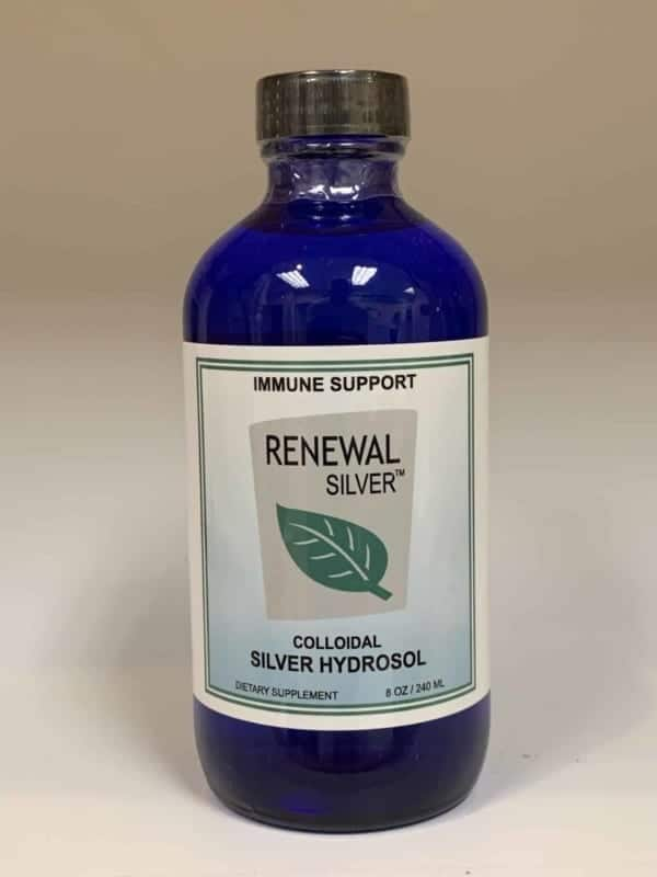Colloidal silver hydrosol bottle
