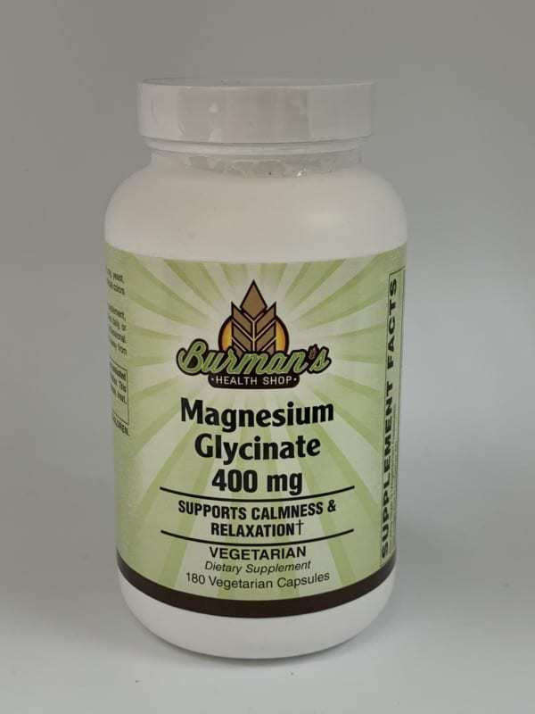 Magnesium Glycinate 400mg bottle