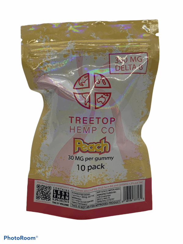 TreeTop Delta 8 THC Peach Rings