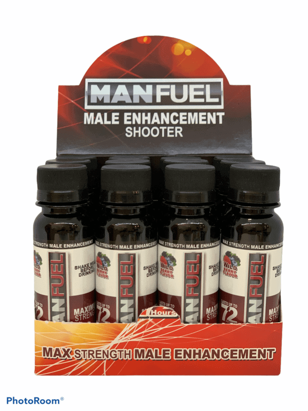 MANFUEL Liquid Libido Shot bottles