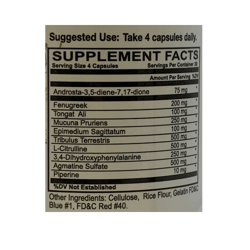 steel 75 testosterone label