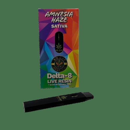 delta 8 thc live resin disposable vape - amnesia haze