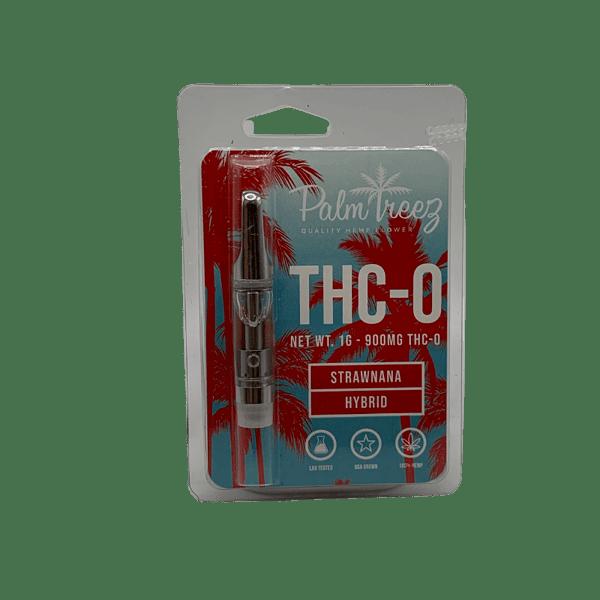 thc-0 strawnana vape cartridge