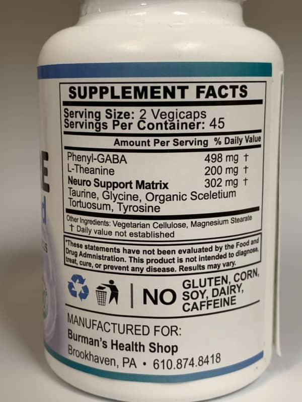 Gaba Pure Label - Ingredients