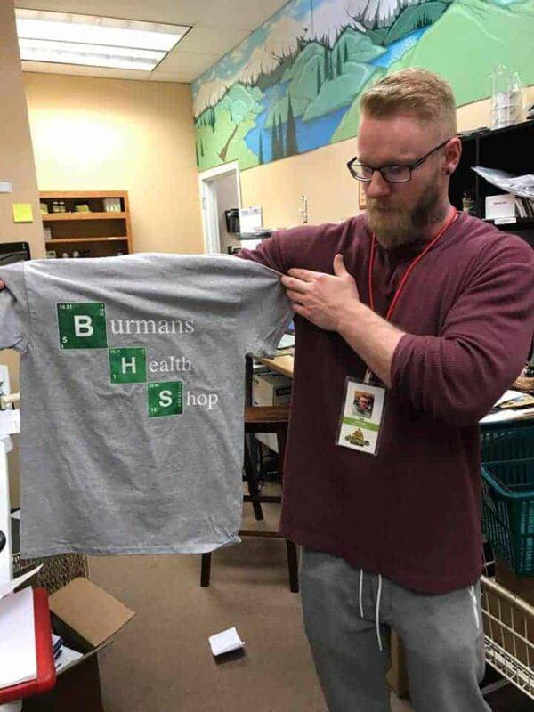 "Burman's ""Breaking Bad"" BHS gray T Shirt"